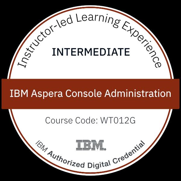 IBM Aspera Console Administration - Code: WT012G