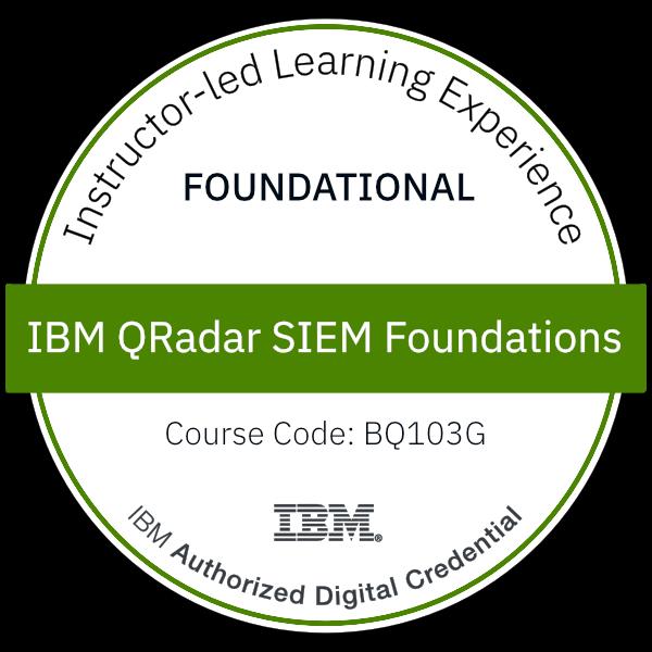 IBM QRadar SIEM Foundations - Code: BQ103G