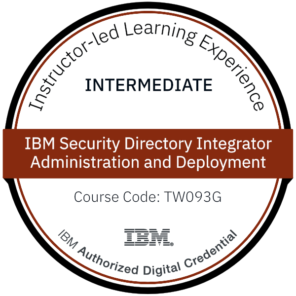 IBM Security Directory Integrator Administration and Deployment - Code: TW093G