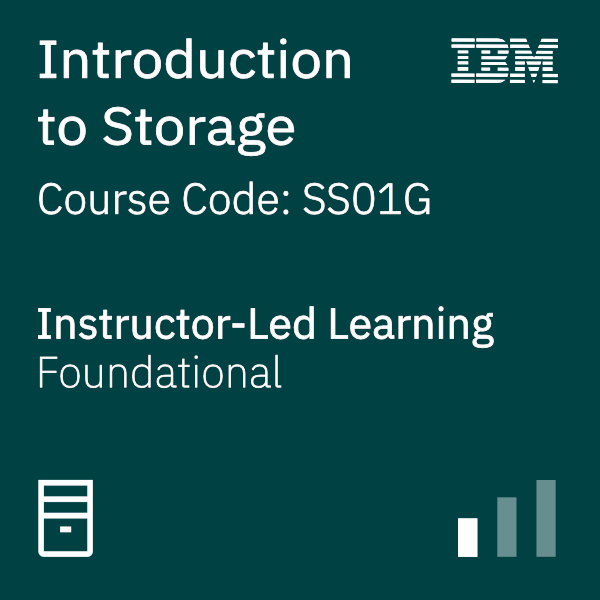 Introduction to Storage - Code: SS01G