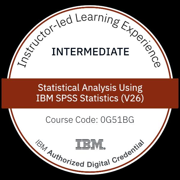 Statistical Analysis Using IBM SPSS Statistics (V26) - Code: 0G51BG