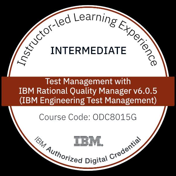 Test Management with IBM Rational Quality Manager v6.0.5 (IBM Engineering Test Management) - Code: ODC8015G