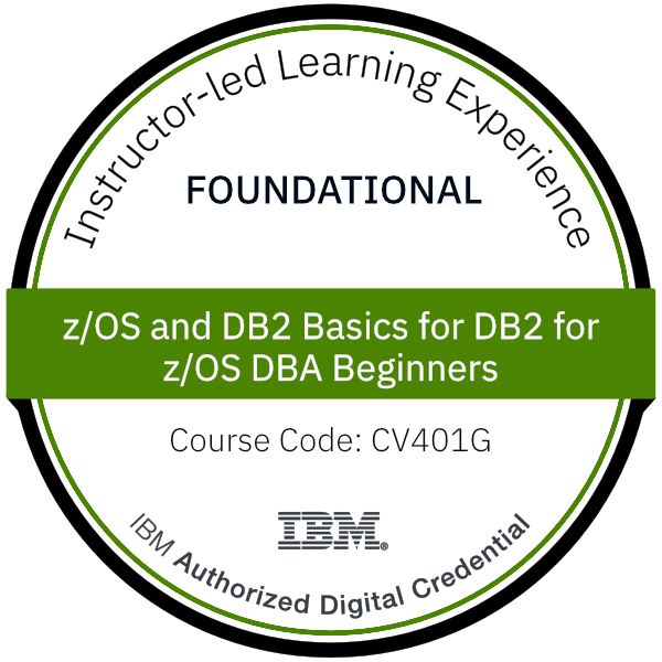 z/OS and DB2 Basics for DB2 for z/OS DBA Beginners - Code: CV401G